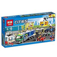 """Конструктор Lepin 02082 """"Грузовой терминал"""" 829 деталей. Аналог LEGO City 60169"""