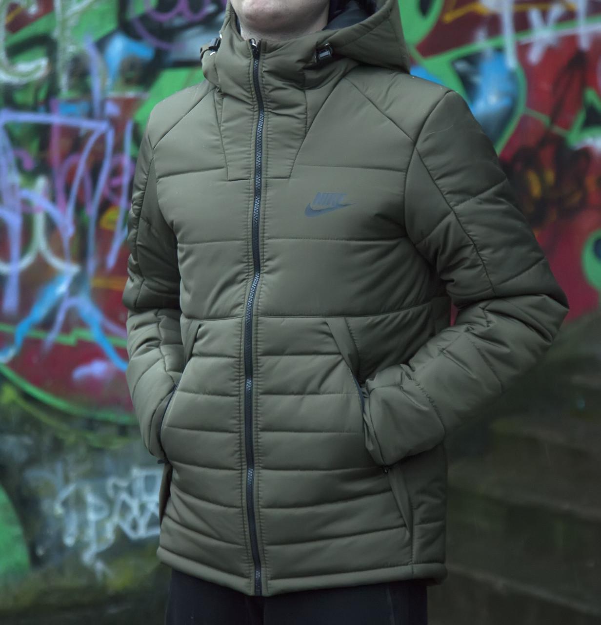 30830d30 Мужская зимняя зеленая куртка Nike - купить по лучшей цене в Украине ...