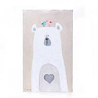 Картина интерьерная в скандинавском стиле для детской. Гламурный мишка