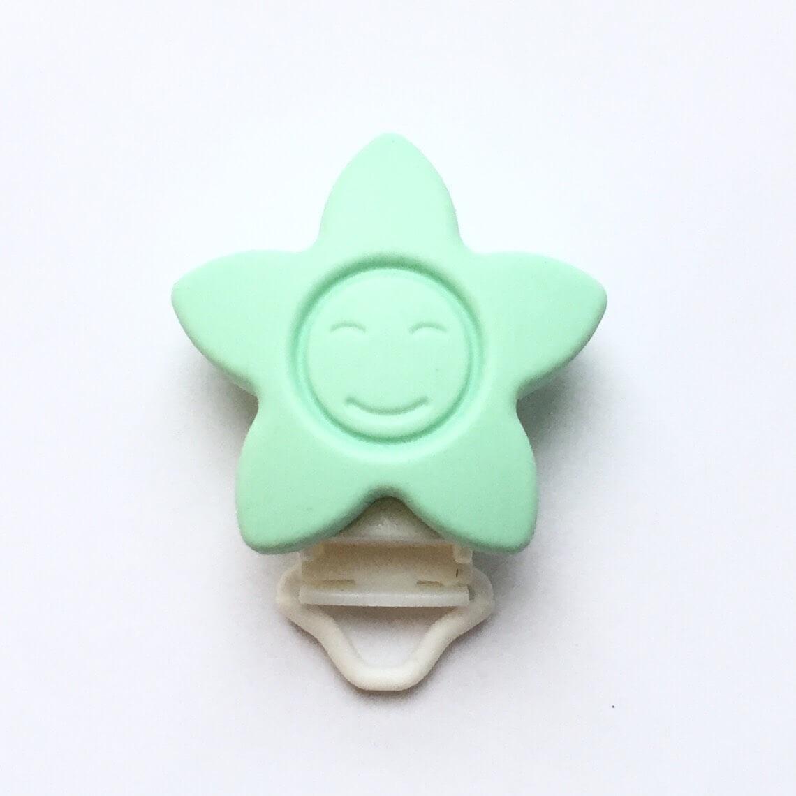 КЛИПСА звезда (мята) силиконовая для пустышки