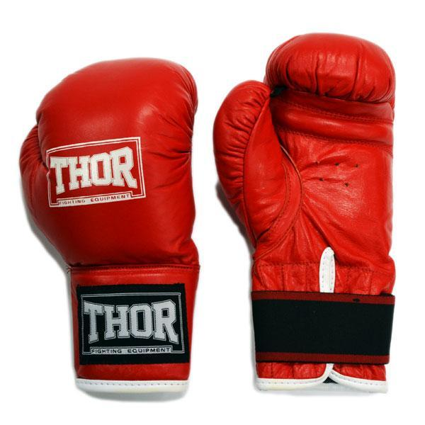 Боксерские перчатки THOR JUNIOR (Leather) RED
