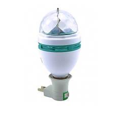Вращающаяся диско-лампа LY-399 Led Full Color лампочка + проектор (44862)