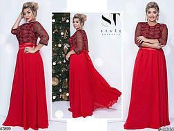 Шикарное вечернее нарядное женское платье красного цвета размеры: 48-50,50-52, фото 3
