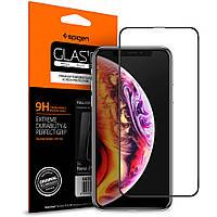 Защитное стекло Spigen Slim для iPhone XS Max, Black (065GL25232)