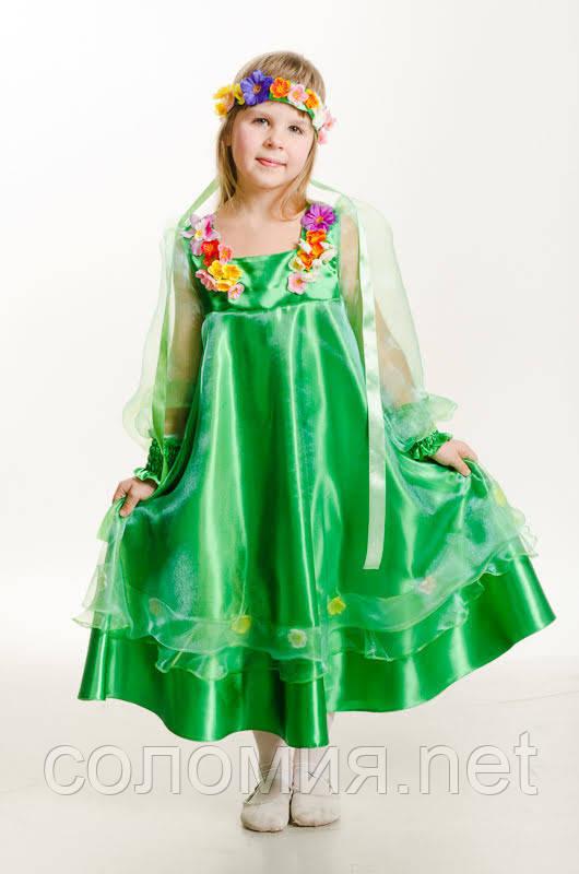 Детский карнавальный костюм для девочки Весна 110-140р