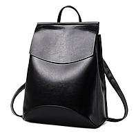 Рюкзак женский кожзам трансформер classik glamur Черный, фото 1