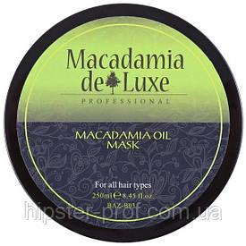 Питательная маска для волос с маслом макадамии De Luxe Professional Macadamia Oil Mask 250 ml