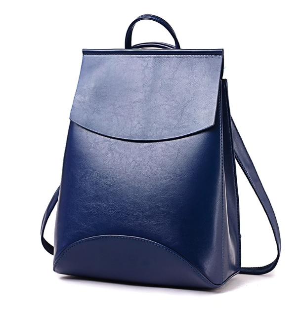 Рюкзак женский кожзам трансформер classik glamur Синий