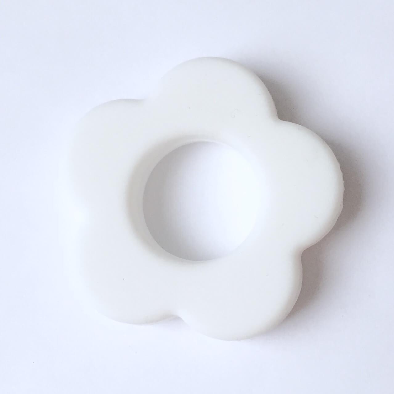 Колечко Цветок (белое) силиконовое