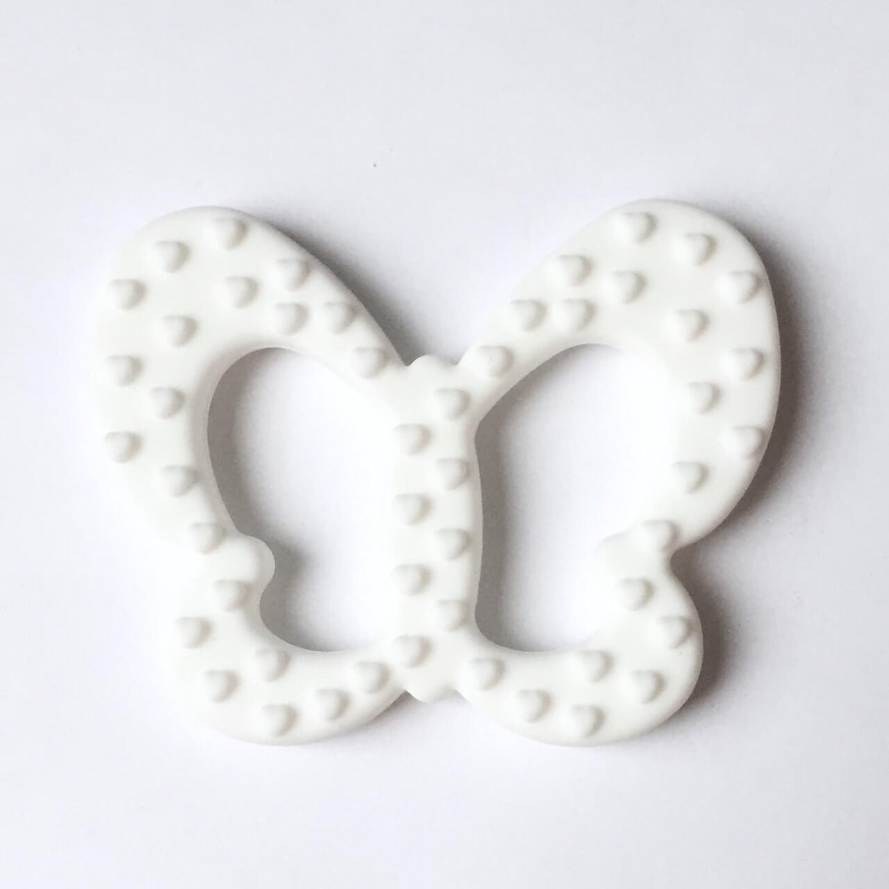 Бабочка (белая) силиконовый прорезыватель для зубов