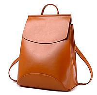 Рюкзак женский кожзам трансформер classik glamur Коричневый, фото 1