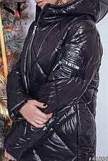 Стильное пальто с выразительной асимметрией подола, фото 2