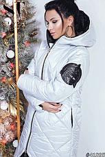 Стильное пальто с выразительной асимметрией подола, фото 3