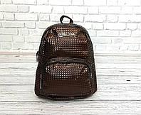 Женский рюкзак в стиле Philipp Plein коричневый