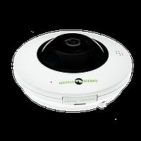 Панорамная камера купольная IP для внутренней установки GreenVision GV-075-IP-ME-DIА20-20 (360) POE