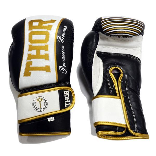 Боксерские перчатки Thor tunder (PU) BLK