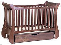 Детская кроватка Верес Соня ЛД 20 маятник+ящик (орех)