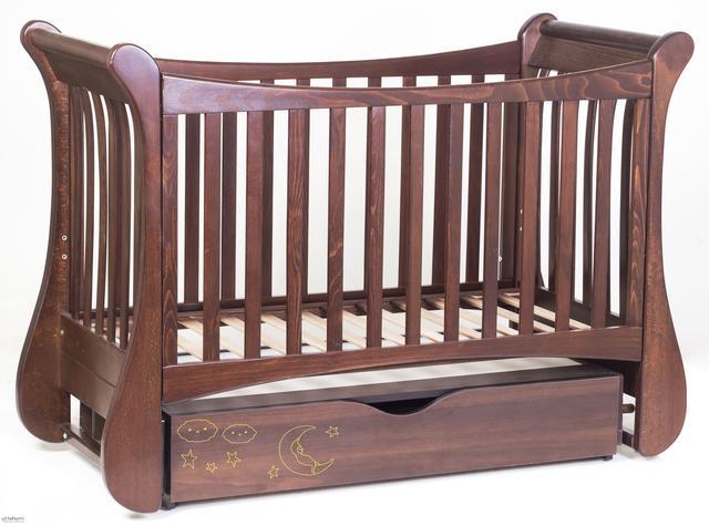 Детская кроватка Верес Соня ЛД 15 маятник+ящик (бук)