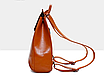Рюкзак женский кожзам трансформер classik glamur Красный, фото 4