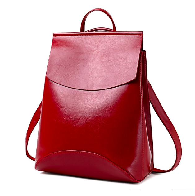 Рюкзак женский кожзам трансформер classik glamur Красный