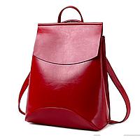 Рюкзак женский кожзам трансформер classik glamur Красный, фото 1
