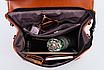 Рюкзак женский кожзам трансформер classik glamur Красный, фото 7