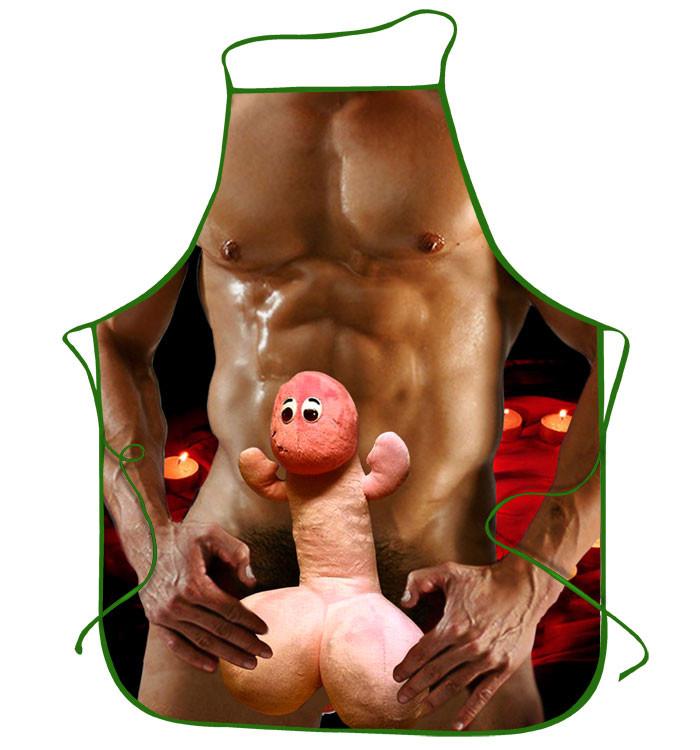 Прикольный фартук эротический с игрушкой