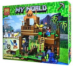 """Конструктор Lele 33126 Minecraft """"Алмазный замок"""" 572 детали"""