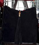 Клатчи из натурального замша на плечо (бордо)25*25см , фото 2