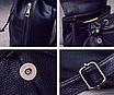 Рюкзак женский кожзам Черный цветочный, фото 7