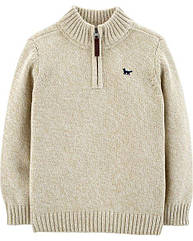 Тёплая вязанная кофта для мальчика Carter's бежевая свитер 18 мес/78-83 см