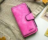 Женский кошелек, клатч Baellerry Forever, балери. Ярко розовый. Замша PU Vsem, фото 3