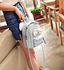 Рюкзак сумка женский трансформер Mikki Голубой, фото 5