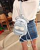 Рюкзак сумка женский трансформер Mikki Голубой, фото 3