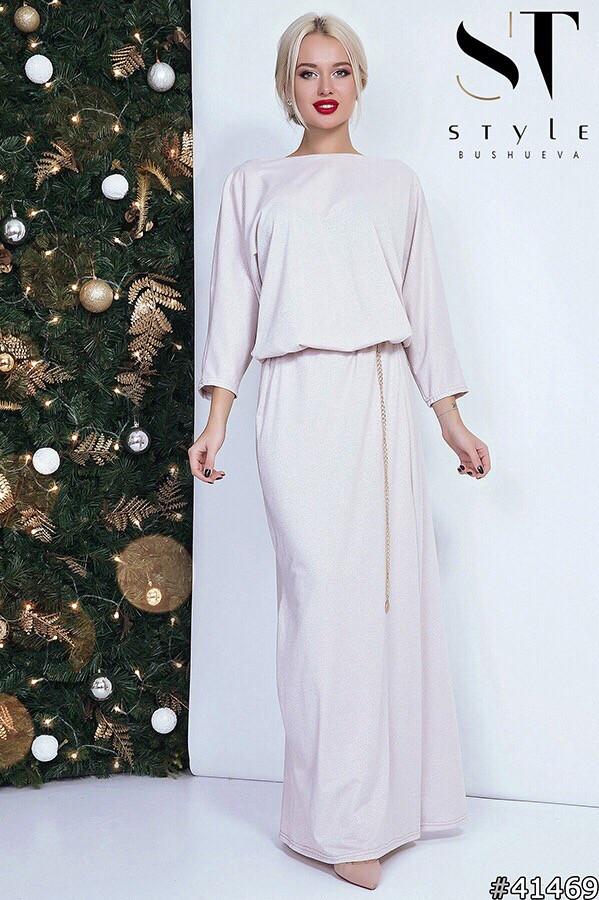 Платье в пол люрекс 48276