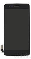Дисплей (экран) для LG X240 Dual Sim K8 (2017) + тачскрин, черный, оригинал