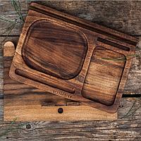 Органайзер для рабочего стола деревянный ручной работы