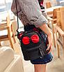 Рюкзак сумка женский трансформер Mikki Черный, фото 4