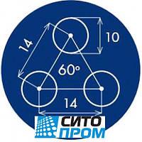 Перфорированный лист, оцинкованная сталь, круглая ячейка PP Rv10-14/0,8/1000x2000, Код товара: 02541