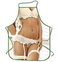 Прикольные фартуки Девушка в белом белье, эротический