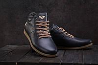 Мужские ботинки кожаные зимние синие Milord Olimp