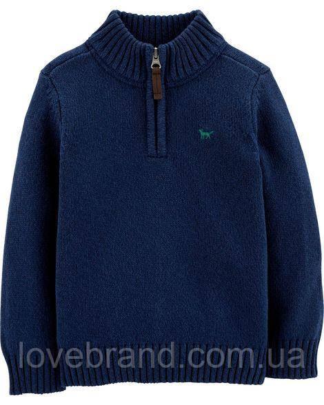 Тёплый свитер для мальчика Carter's синий вязанная кофта 3Т/93-98 см