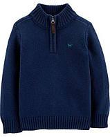 Тёплый свитер для мальчика Carter's синий вязанная кофта