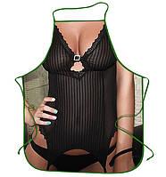 Прикольные фартуки Девушка в черном белье, эротический