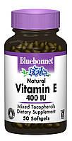 Натуральний Витамин Е 400IU, Bluebonnet Nutrition, 50 желатиновых капсул