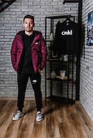 Курточка осеняя на тинсулейте Nike, бордовая