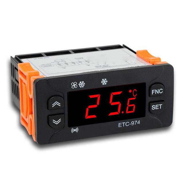 Контроллер Elitech ETC 974 (2 датчика). Электронный термостат.