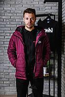 Курточка зимняя на тинсулейте Nike, бордовая, фото 1