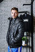 Куртка Philipp Plein стеганная с металлическим логотипом