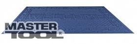 """Коврик резиновый с синтетическим покрытием """"WELCOME"""" 730*1165 мм синий, Арт.: 92-0693"""